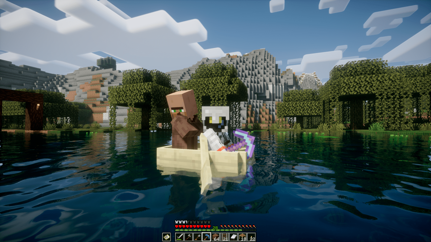 villager on then boat