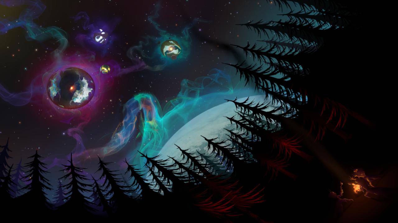 宇宙の眼でリトルスカウトを飛ばしておくと140億年後まだ飛んでいてなごむ(これはリトルスカウトが飛んでないバージョン)